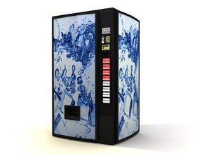 soda vending machine 3d model
