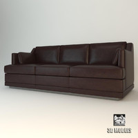 3d model baker hollywood sofa