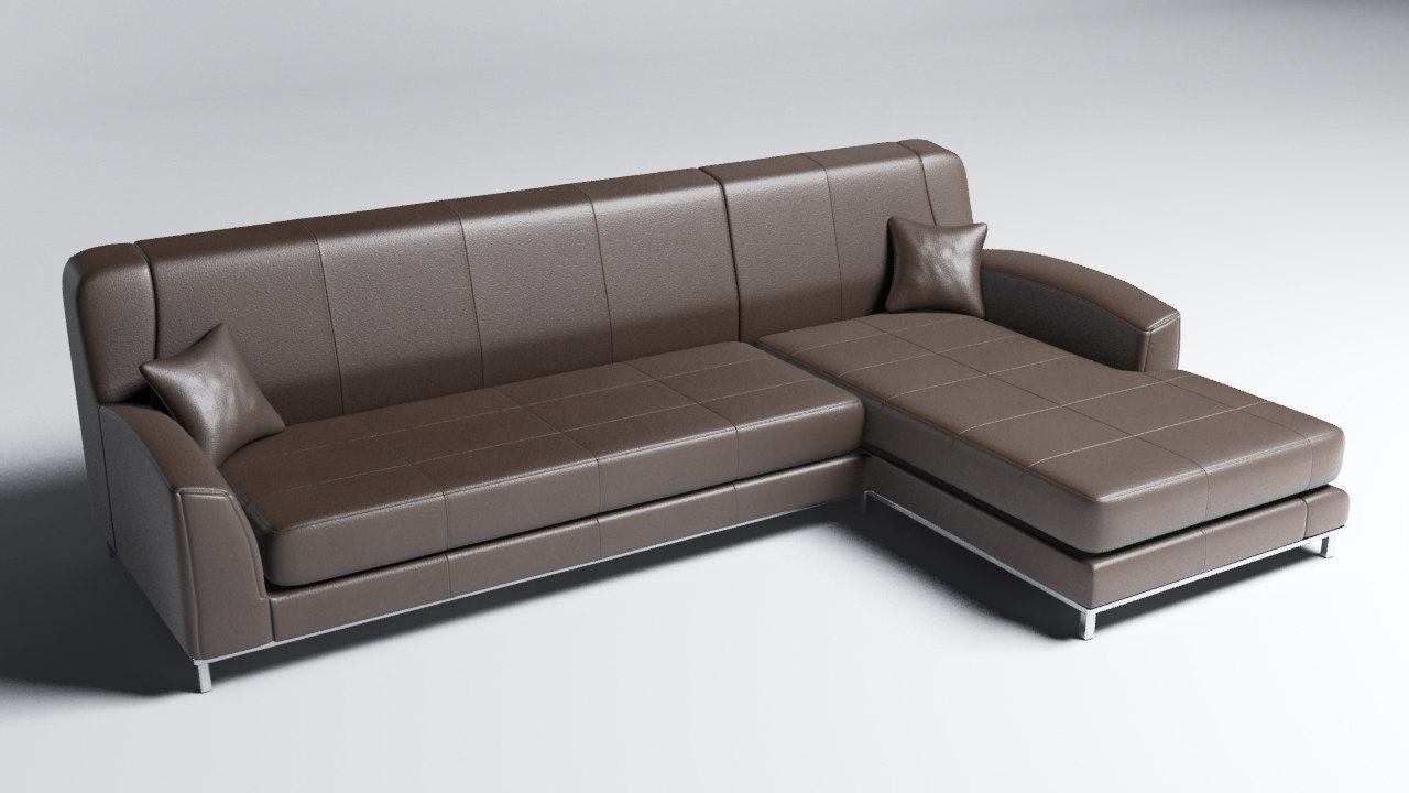 3ds max modern sofa details