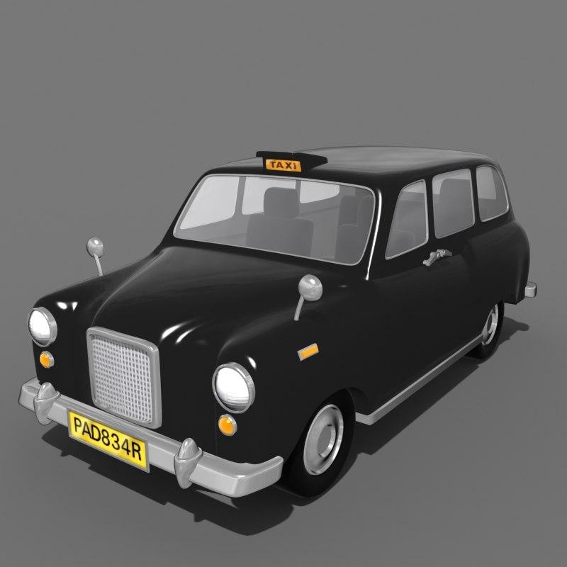 london taxi cab 3d max