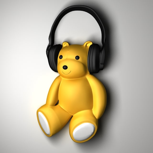 max model teddy bear bas-relief