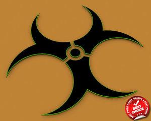 free 3ds model toxic logo