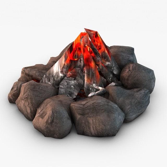 bonfire 3d model
