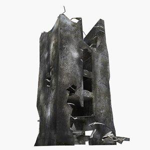 damaged building 3ds