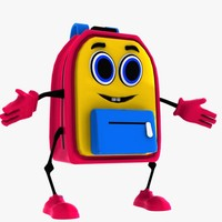 School Bag Character