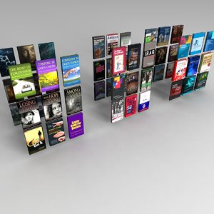 set books 3d model