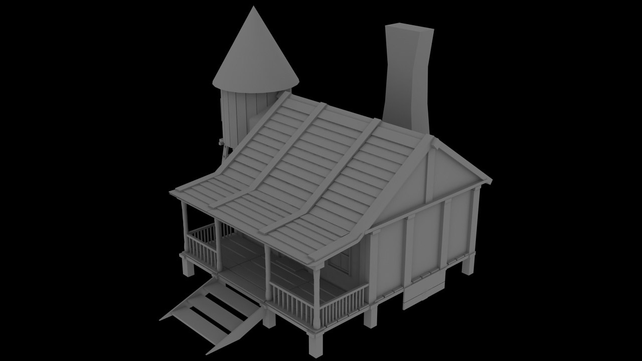 cabin house cottage 3d max