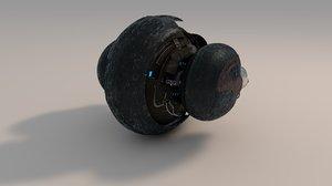 3d robot droid model