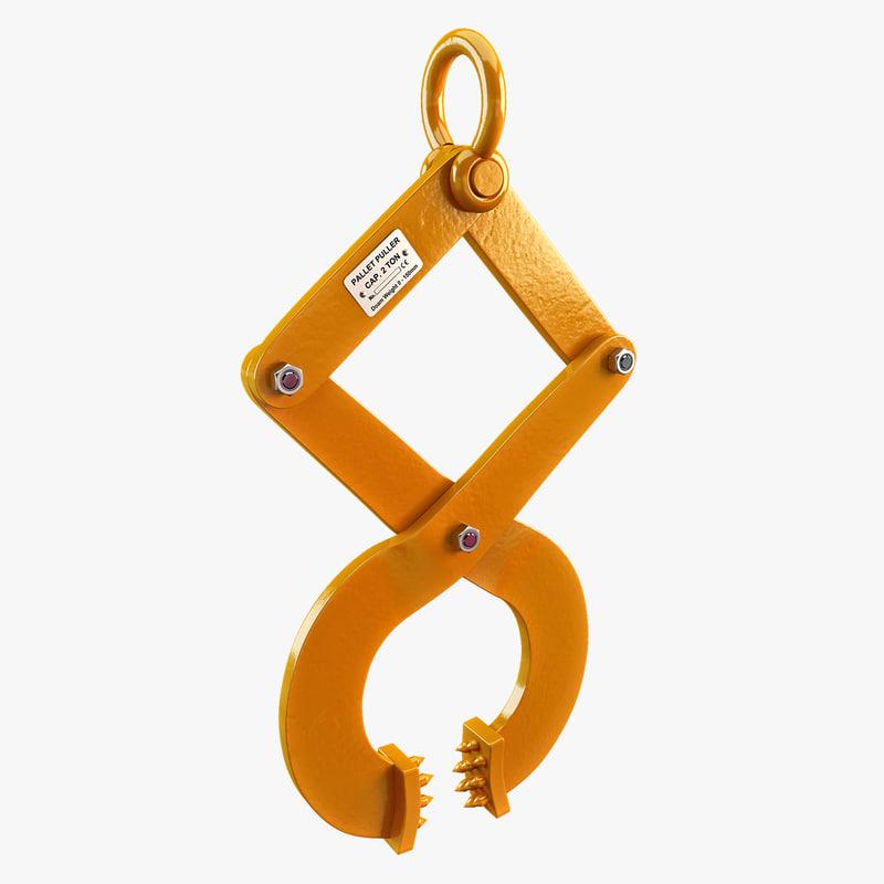 pallet puller clamp 3d model