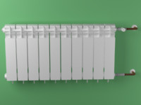 free radiator 3d model
