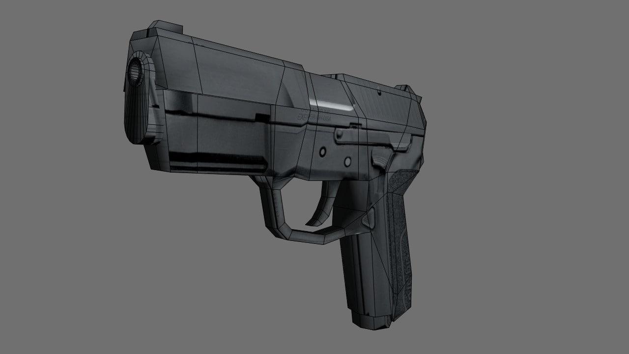3d gun handgun