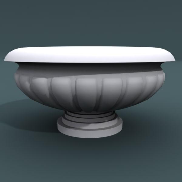 3d model of designed vase