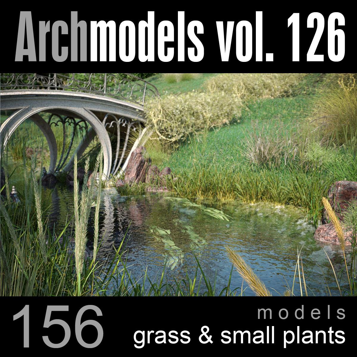 archmodels vol 126 grass 3d model