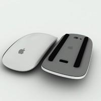 3d model apple wireless mouse