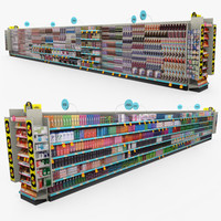 3d model retail - beauty aisle