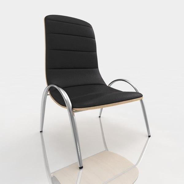 3d bar stool leather