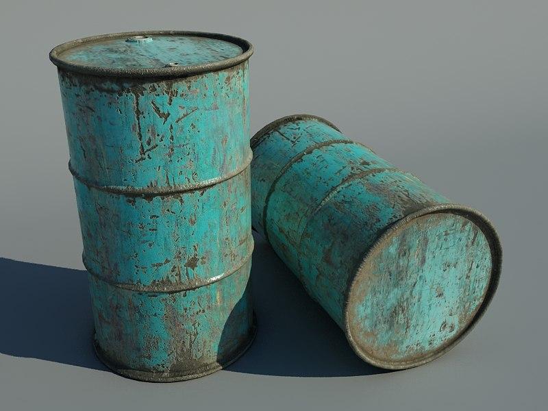 3dsmax rusted barrel