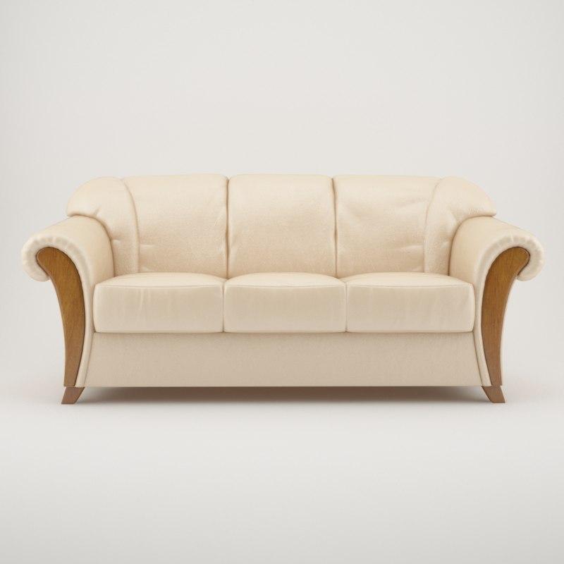3d 3 seat sofa model