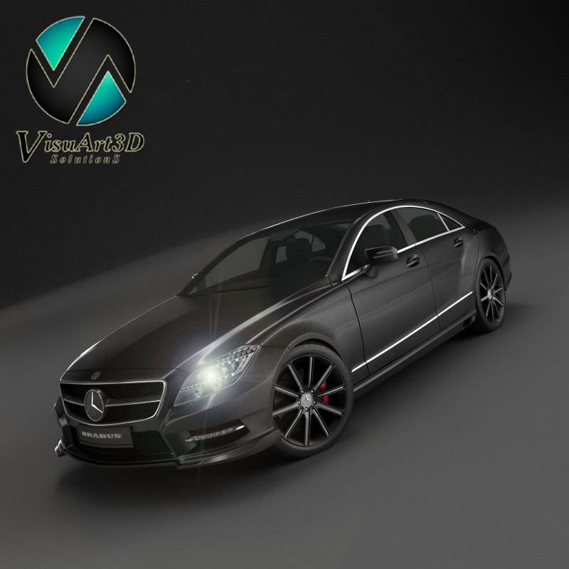 mercedes benz cls brabus 3d model