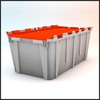 3ds max tote plastic crate