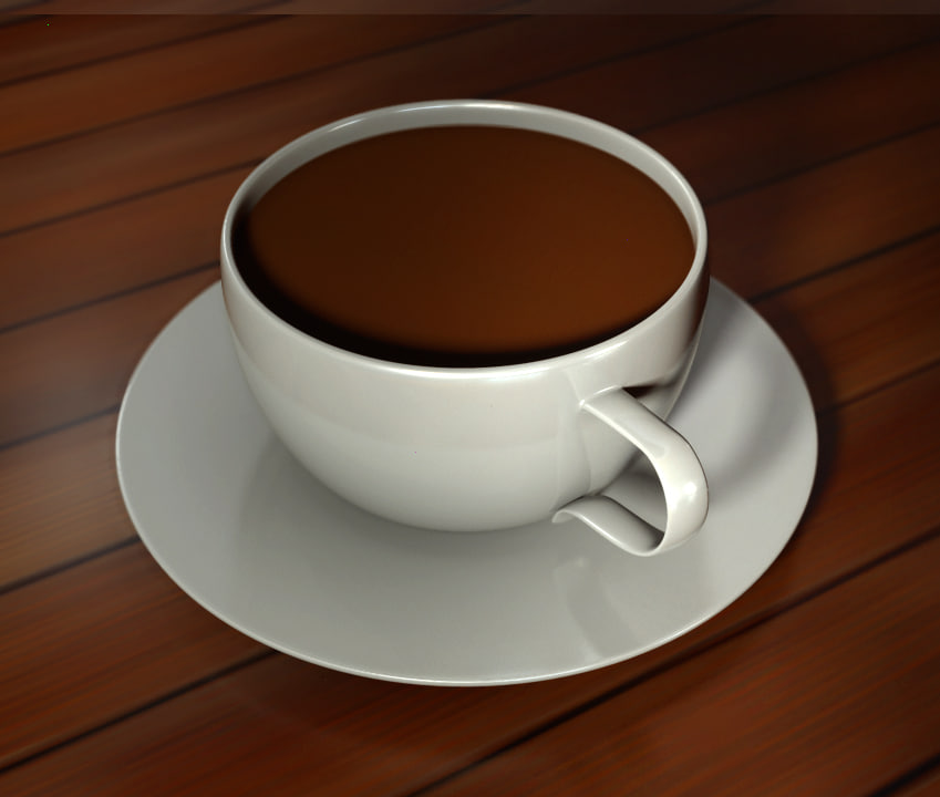 free cup saucer 3d model