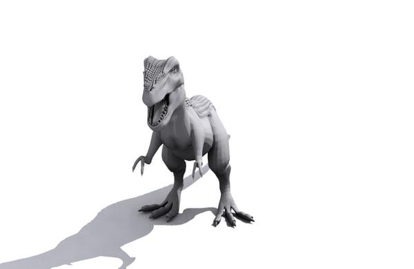 free t-rex character 3d model