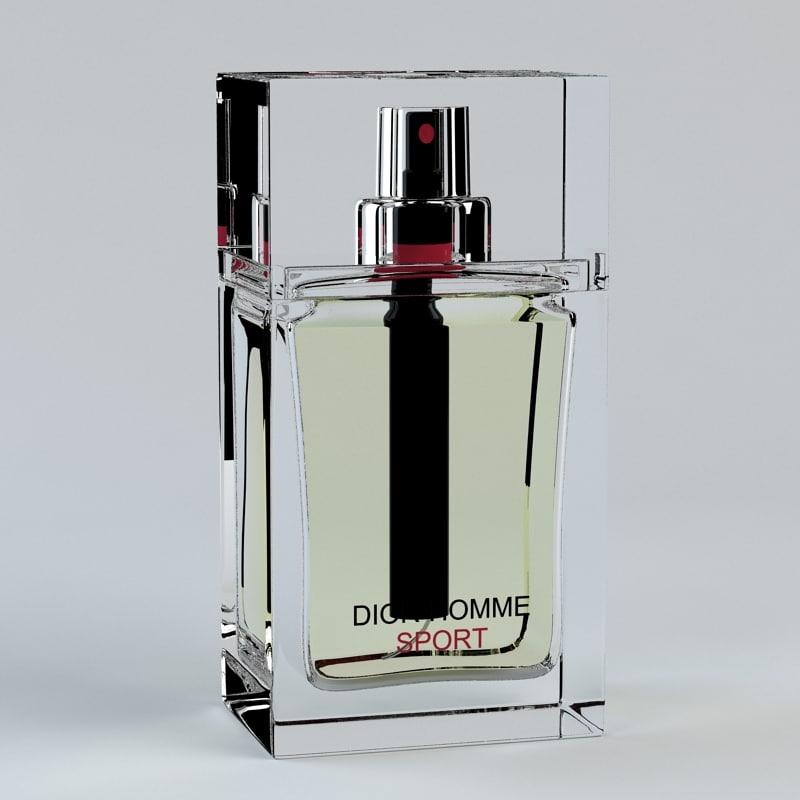 3d model perfume dior homme sport