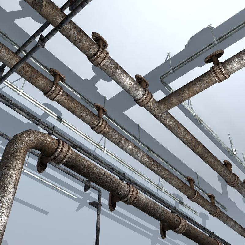 gas sewer pipes 3d model