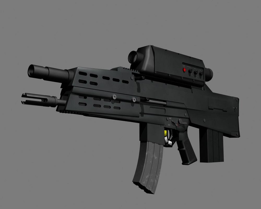 assault rifle prototype 3d model