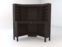 ikea hemnes workstation corner 3ds