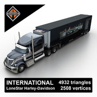 3d model 2013 international lonestar harley-davidson