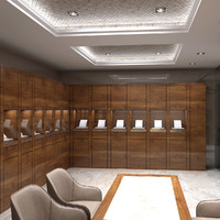 3dsmax interior scene jewelry store
