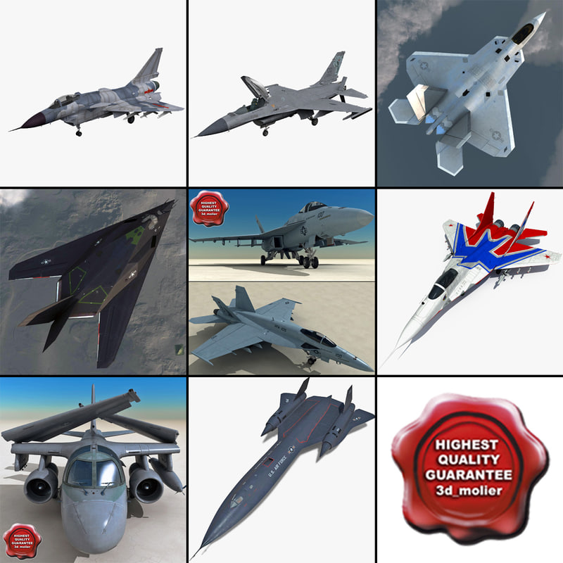 3d model jet fighters 8 f 117