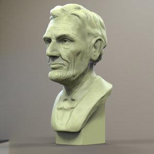 printable abraham bust printing 3d obj