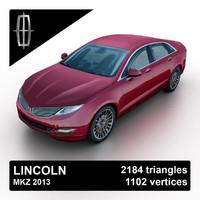 2013 mkz sedan 3d model
