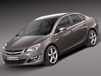 3d 2012 2013 sedan opel astra model