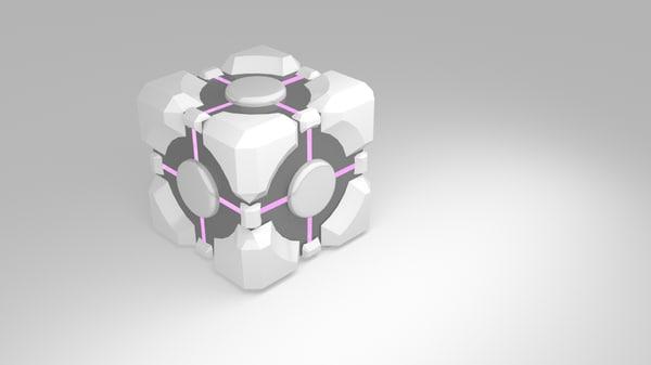 free aperture companion cube 3d model