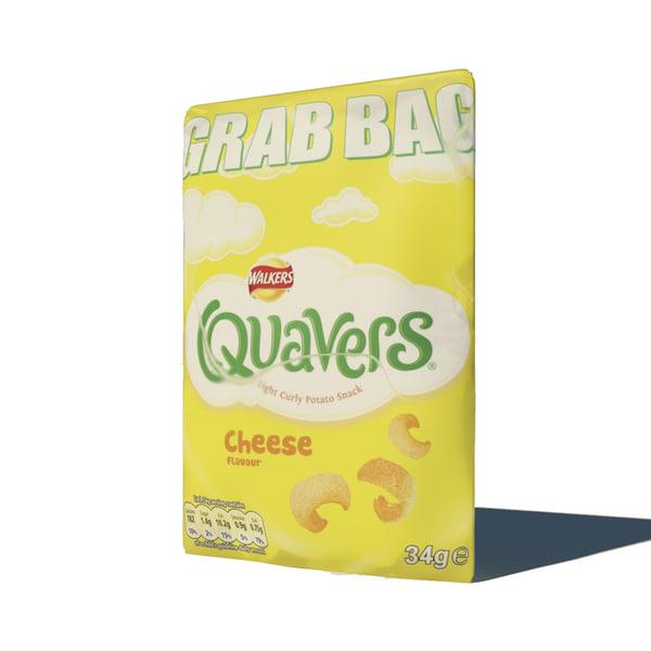 3d model of crisps quavers