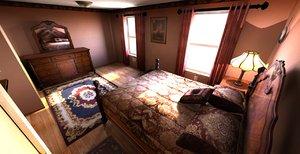 3d model bedroom modeled extra