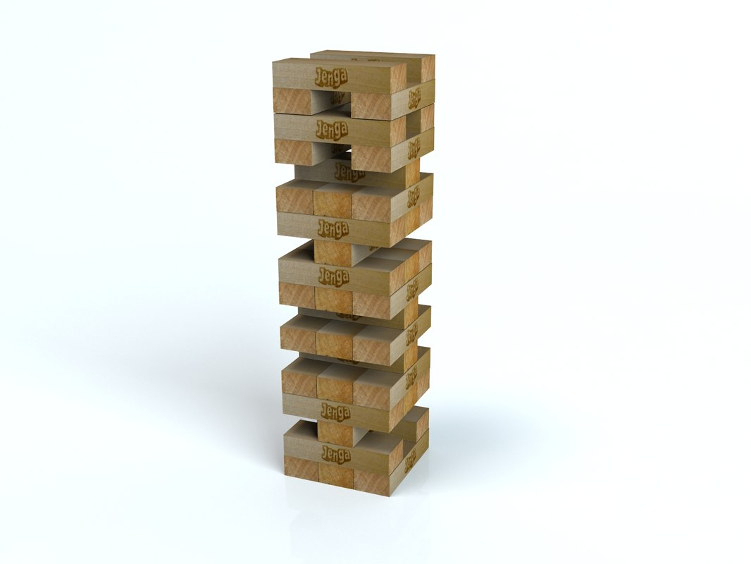 3ds max jenga tower