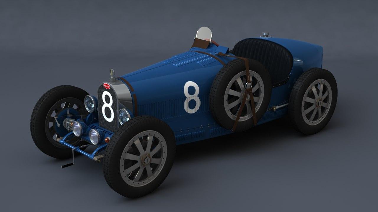 3d classic race car model