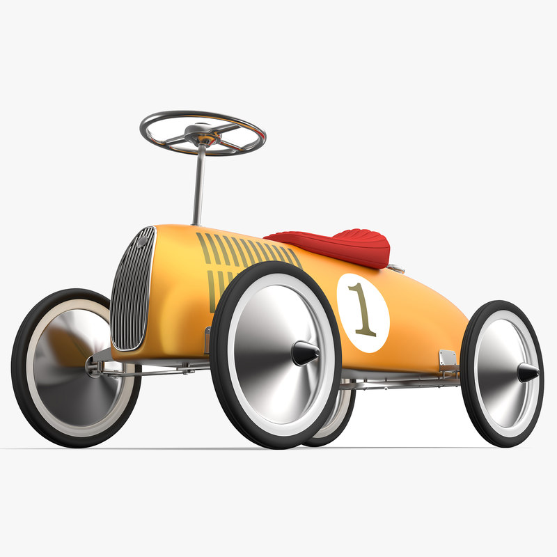 retro push car 3d model