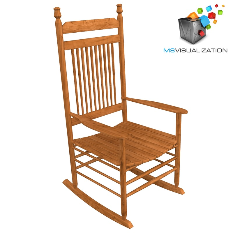 3ds max old rocking chair