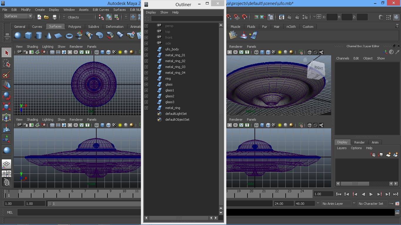 3d model aircraft saucer