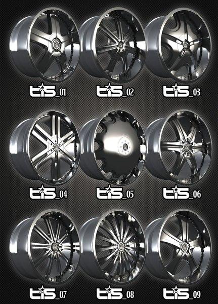 free rims tis alloys packs 3d model