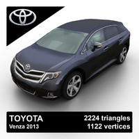 2013 toyota venza 3d model