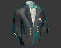 3d model suit cloth