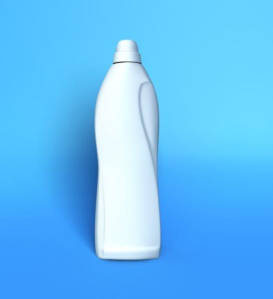 detergent shampoo bottle 3d lwo