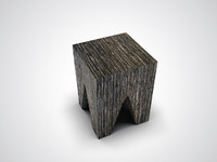 3d 3ds 4 wooden box stool