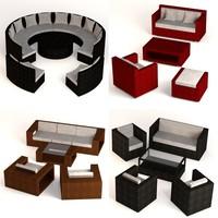 3ds max garden furniture sets